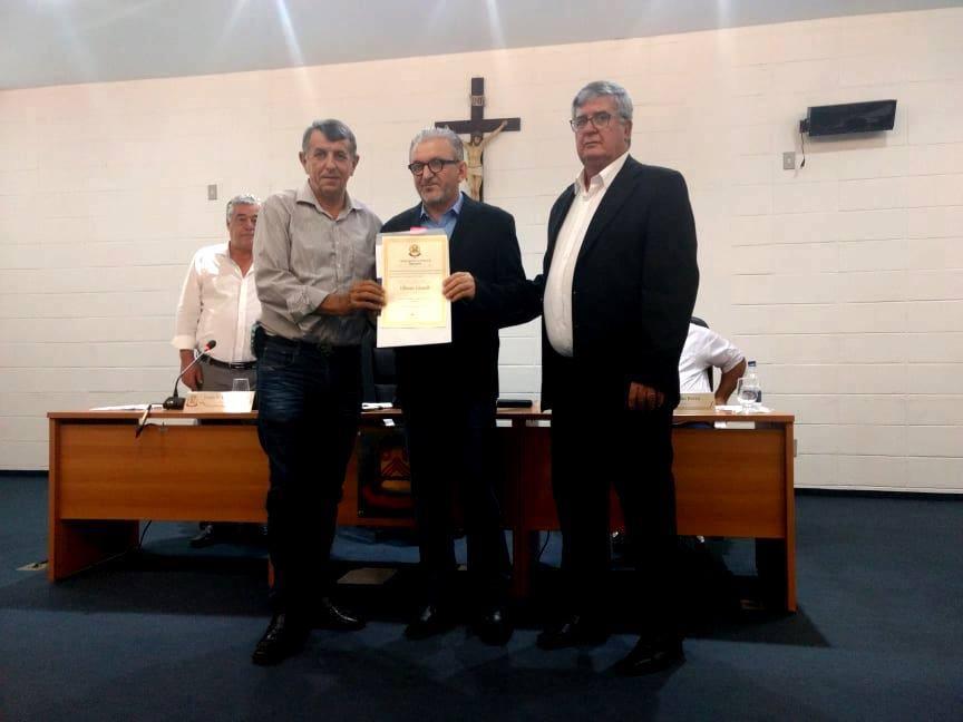 Ulisses Girardi foi homenageado em Socorro/SP