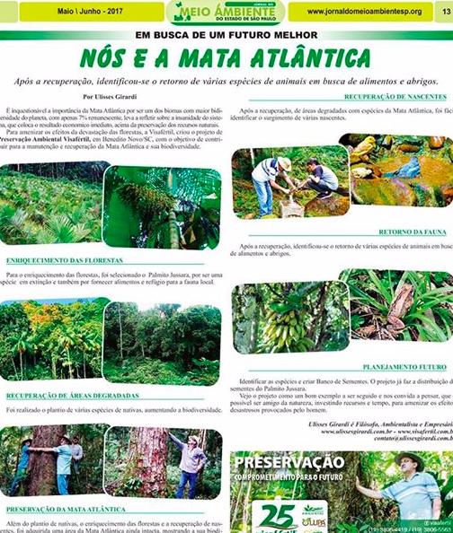 Jornal do Estado de São Paulo – Meio Ambiente – Nós e a Mata Atlântica